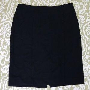 Black Loft Pencil Skirt 2 lines down center Sz 10